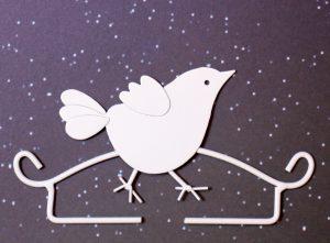 Hänger-Vogel weiß-Rico