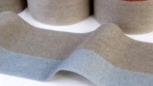 Leinenband ungebleicht-hellblau