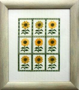 Fingerhut-Mustertuch Sonnenblumen