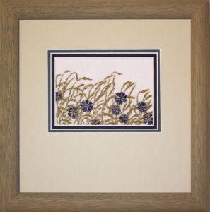 sticken & staunen-Kornblumenwiese