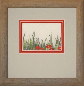 sticken & staunen-Mohnblumenwiese