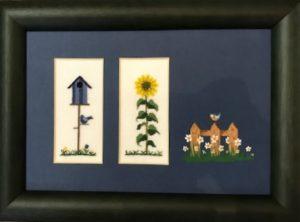 Fingerhut-Vogelhaus und Sonnenblume