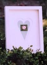 Fingerhut-Herz mit Rose