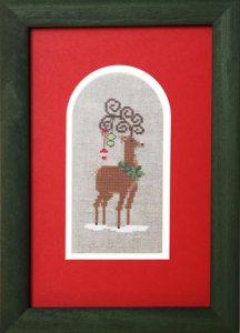 Der Kreuzstich-Weihnachtshirsch